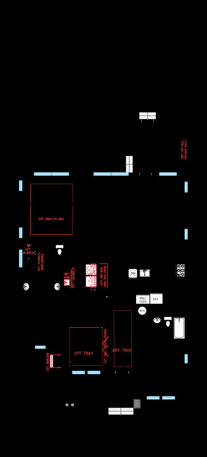 Base floorplan of Brilliance - Elev C - 2,842 sqft, 5-6 Bedroom, 3 Bathroom - Cardel Homes Tampa
