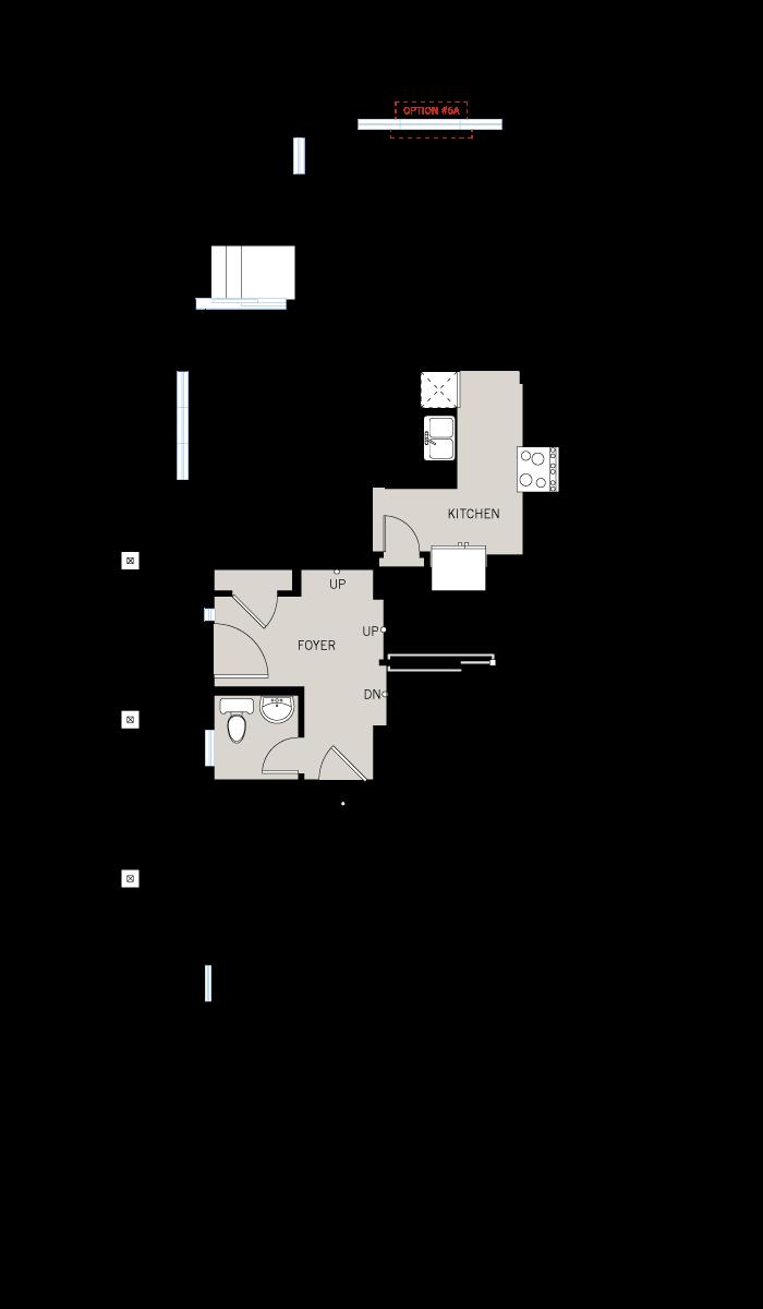 Base floorplan of Yarro 1 EW - Elevation B - 2,098 sqft, 3 Bedroom, 2.5 Bathroom - Cardel Homes Ottawa