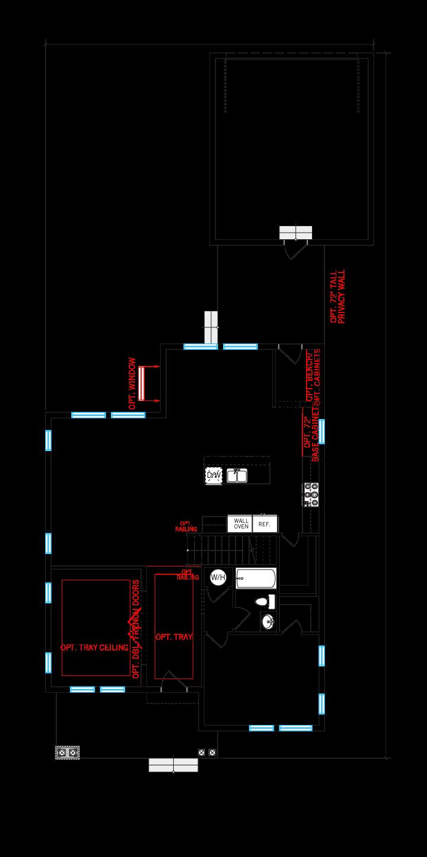 Base floorplan of Harmony-LP - Elev D - 2,716 sqft, 4-5 Bedroom, 3 Bathroom - Cardel Homes Tampa