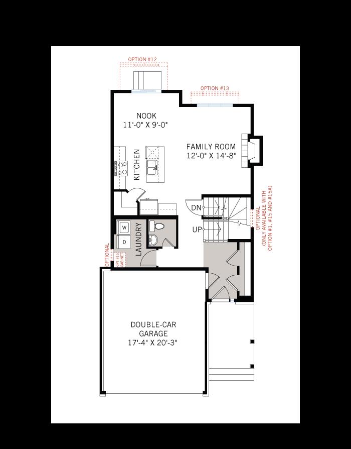 Base floorplan of EW-BAXTER A3 MODERN - 1,703 sqft, 3 - 4 Bedroom, 2.5 Bathroom - Cardel Homes Ottawa