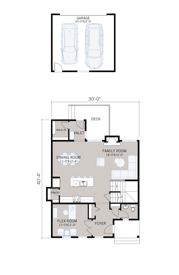 Base floorplan of Hillshire - Farmhouse S4 with Porch - 2,105 sqft, 4 Bedroom, 3.5 Bathroom - Cardel Homes Calgary