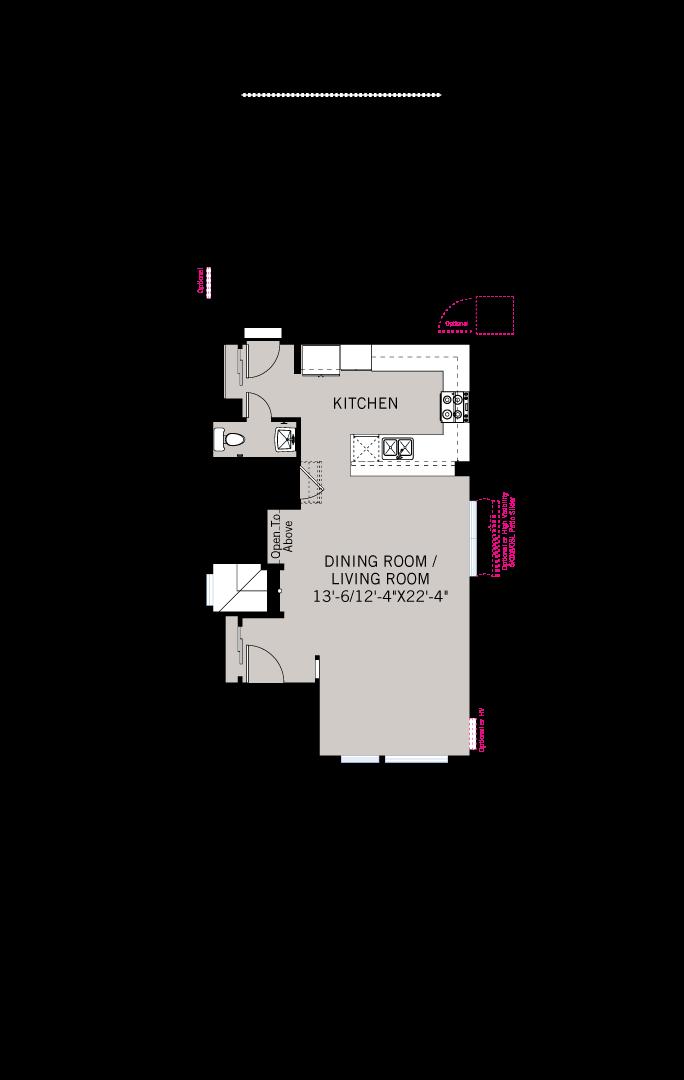 Base floorplan of Lucia - Modern Farmhouse B - 2,442 sqft, 3 Bedroom, 3.5 Bathroom - Cardel Homes Denver