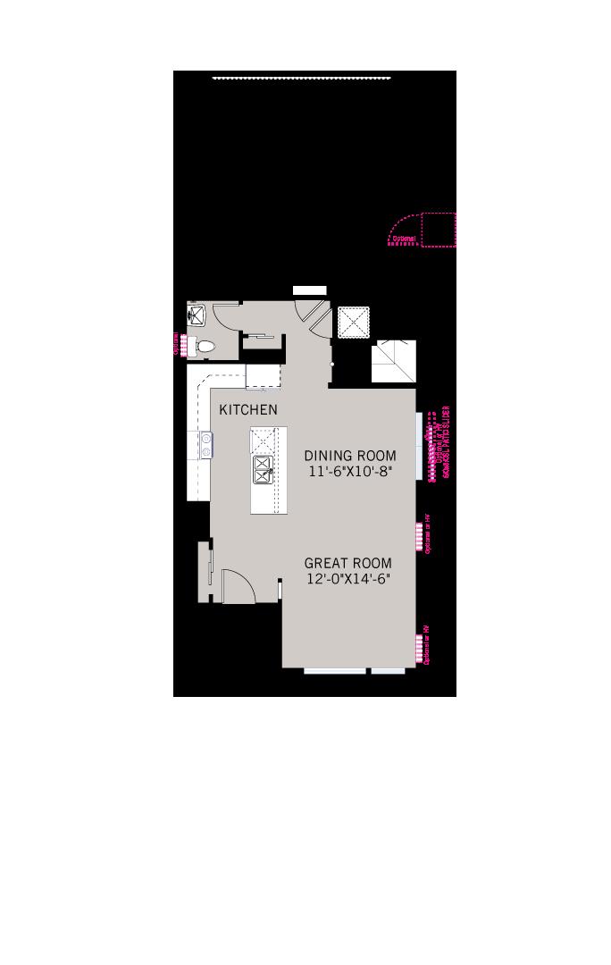 Base floorplan of Raine - Modern Farmhouse B - 2,564 sqft, 4 Bedroom, 3.5 Bathroom - Cardel Homes Denver