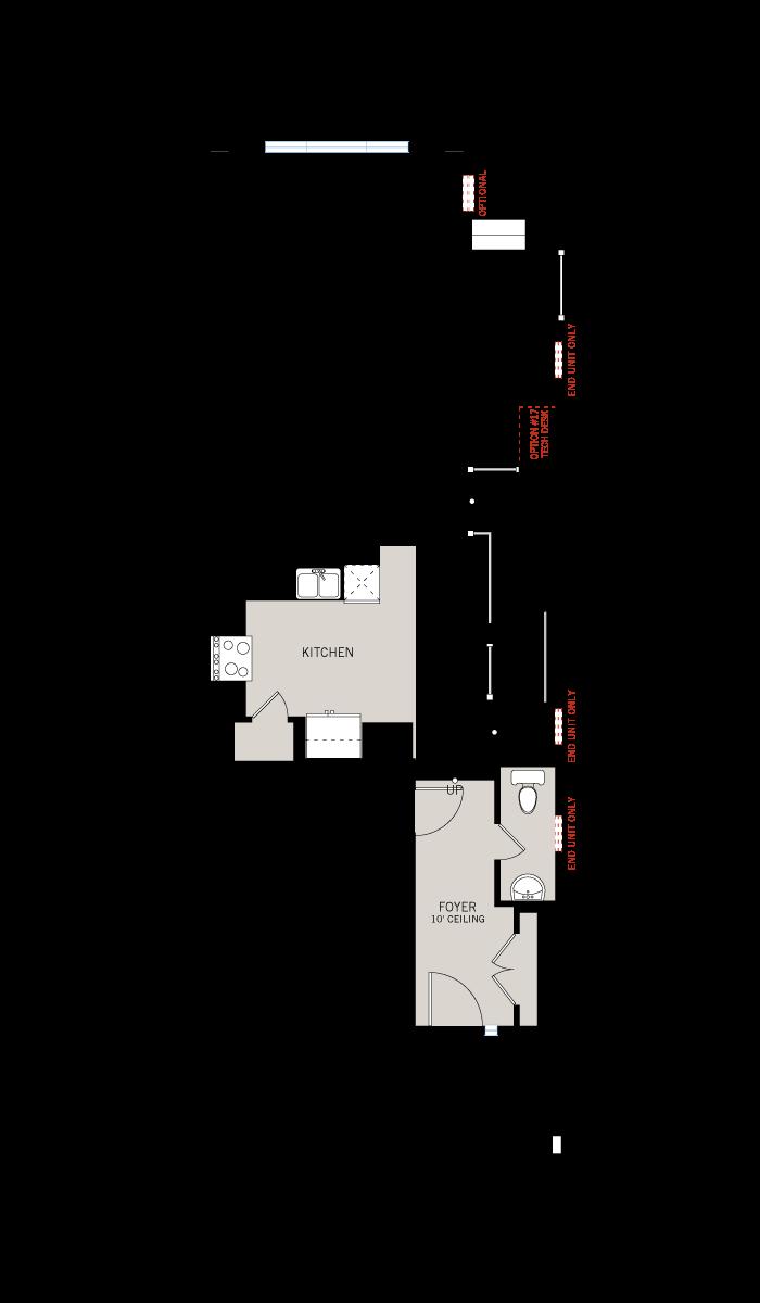 Base floorplan of Balsa EW - Elevation B - 2,064 sqft, 3 Bedroom, 2.5 Bathroom - Cardel Homes Ottawa