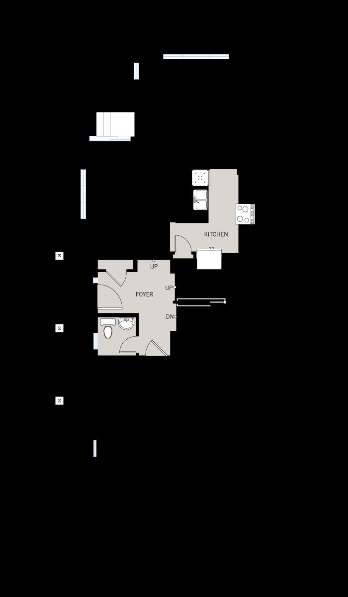 Base floorplan of Yarro 1 EW - Elevation A - 2,098 sqft, 3 Bedroom, 2.5 Bathroom - Cardel Homes Ottawa