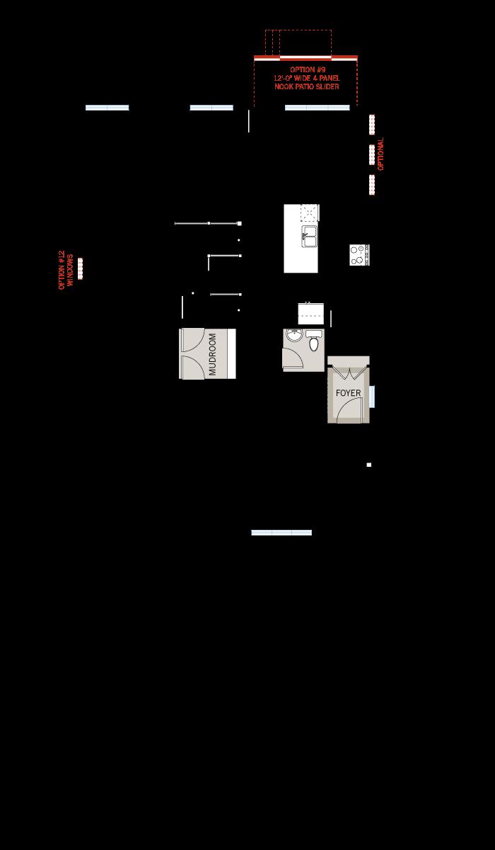 Base floorplan of Nichols - A3 Modern Urban - 2,456 sqft, 4 - 5 Bedroom, 2.5 - 3.5 Bathroom - Cardel Homes Ottawa