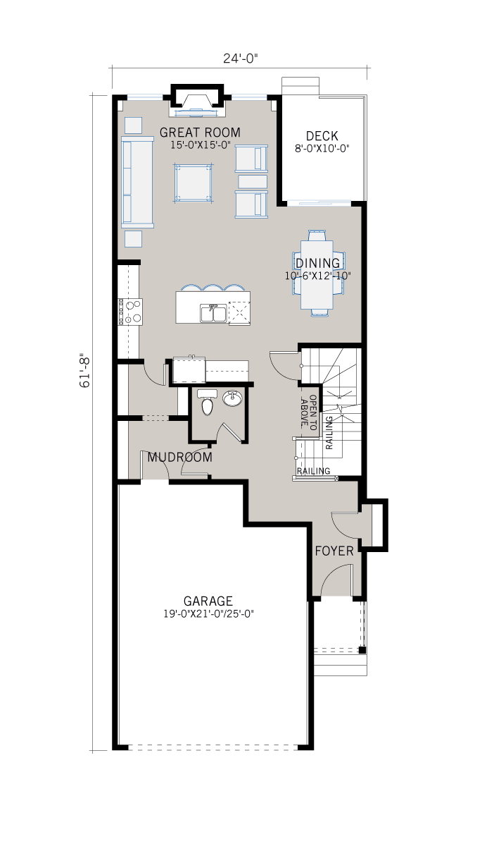 Base floorplan of Linden - SP - Shingle S1 - 2,267 sqft, 3 Bedroom, 2.5 Bathroom - Cardel Homes Calgary