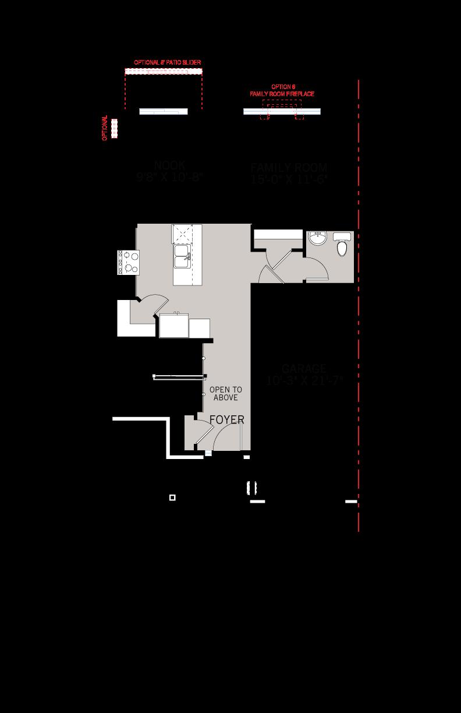 Base floorplan of Walden MCR Semi - Modern A4 - 1,565 sqft, 3 Bedroom, 2.5 Bathroom - Cardel Homes Ottawa