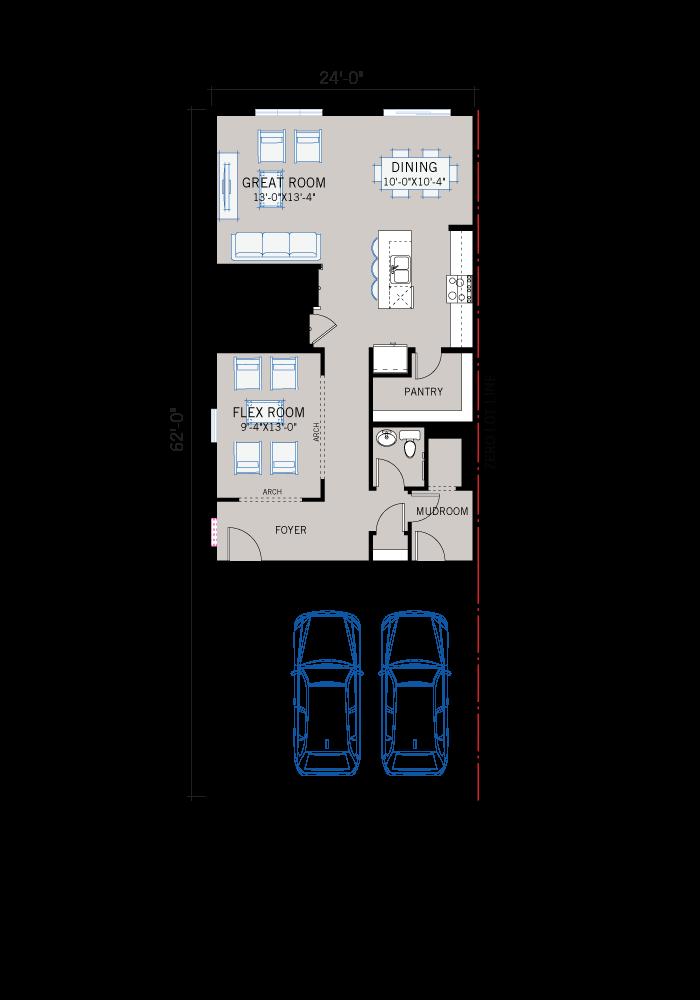 Base floorplan of C3-FARMHOUSE - 2,067 sqft, 3-4 Bedroom, 2.5-3.5 Bathroom - Cardel Homes Calgary