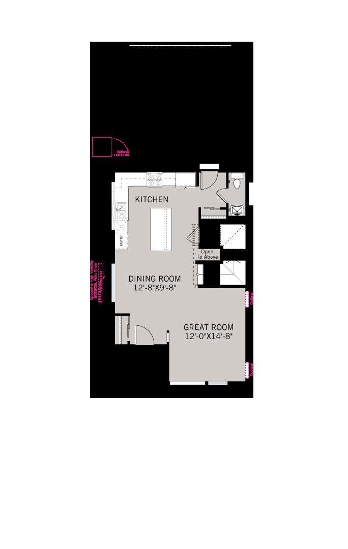 Base floorplan of Avani - Modern Farmhouse B - 2,304 sqft, 3 Bedroom, 3.5 Bathroom - Cardel Homes Denver