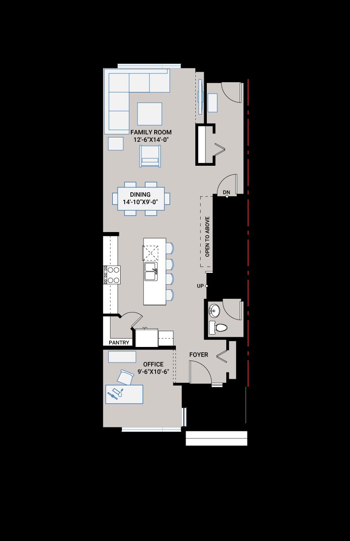 Base floorplan of JULIAN AP - AP3 CRAFTSMAN - 1,805 sqft, 3 Bedroom, 2.5 Bathroom - Cardel Homes Calgary