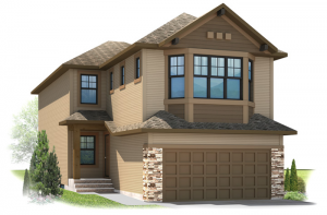 Bayview 3 - Fusion Craftsman F1 Elevation - 2,139 sqft, 3 Bedroom, 2.5 Bathroom - Cardel Homes Calgary
