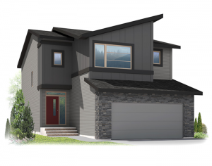 Harmony - Eichler F3 Elevation - 2,053 sqft, 3 Bedroom, 2.5 Bathroom - Cardel Homes Calgary