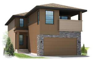 Bayview 3 - Urban Modern F4 Elevation - 2,139 sqft, 3 Bedroom, 2.5 Bathroom - Cardel Homes Calgary