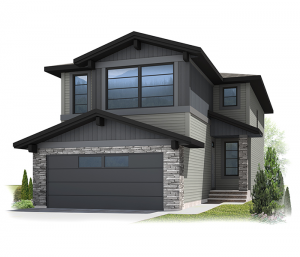 Colbourne 4 - Fusion Modern F3 Elevation - 2,108 sqft, 3 Bedroom, 2.5 Bathroom - Cardel Homes Calgary