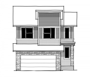 Colbourne 4 - Fusion Modern F4 Elevation - 2,108 sqft, 3 Bedroom, 2.5 Bathroom - Cardel Homes Calgary