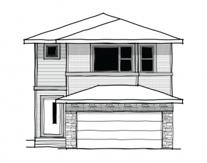 Harmony - Urban Modern F2 Elevation - 2,053 sqft, 3 Bedroom, 2.5 Bathroom - Cardel Homes Calgary