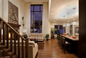 Bayview 3 - Urban Modern F3 Gallery - Bayview 3 Great Room  - 2,139 sqft, 3 Bedroom, 2.5 Bathroom - Cardel Homes Calgary
