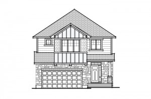 Berkshire 2 - A1 Canadiana Elevation - 2,570 sqft, 4 Bedroom, 2.5 Bathroom - Cardel Homes Ottawa