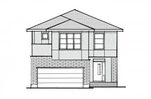 Berkshire 2 - A2 Modern Prarie Elevation - 2,570 sqft, 4 Bedroom, 2.5 Bathroom - Cardel Homes Ottawa