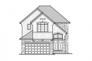 Berkshire 2 - A4 Chateau Elevation - 2,549 sqft, 4 Bedroom, 2.5 Bathroom - Cardel Homes Ottawa