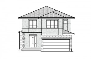 Devonshire 2 - A3 Modern Prarie Elevation - 2,227 sqft, 4 Bedroom, 2.5 Bathroom - Cardel Homes Ottawa