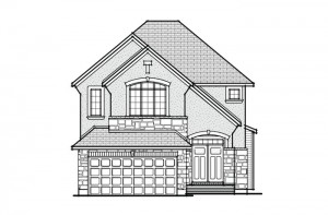 Inverness 2 - A5 Chateau Elevation - 2,148 sqft, 3 Bedroom, 2.5 Bathroom - Cardel Homes Ottawa