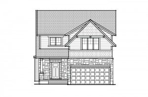 Devonshire 2 - A2 Canadiana Elevation - 2,227 sqft, 4 Bedroom, 2.5 Bathroom - Cardel Homes Ottawa