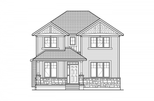 Huxley - Huxley A1 Elevation - 2,387 sqft, 3 Bedroom, 2.5 Bathroom - Cardel Homes Ottawa