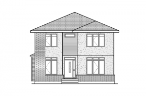 Huxley - Huxley A3 Elevation - 2,387 sqft, 3 Bedroom, 2.5 Bathroom - Cardel Homes Ottawa