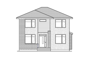 Sheffield - Sheffield A3 Elevation - 2,543 sqft, 3 Bedroom, 2.5 Bathroom - Cardel Homes Ottawa