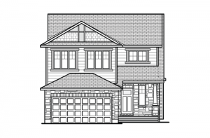 Inverness 2 - A1 Canadiana Elevation - 2,148 sqft, 3 Bedroom, 2.5 Bathroom - Cardel Homes Ottawa