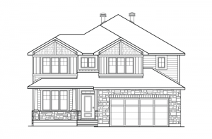 Denali - Canadiana Elevation - 2,706 sqft, 3 Bedroom, 2.5 Bathroom - Cardel Homes Ottawa