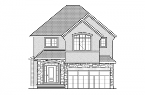 Davenport - R5 Chateau Elevation - 2,220 sqft, 4 Bedroom, 2.5 Bathroom - Cardel Homes Ottawa