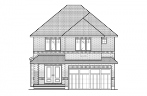 Denali - European Manor Elevation - 2,706 sqft, 3 Bedroom, 2.5 Bathroom - Cardel Homes Ottawa