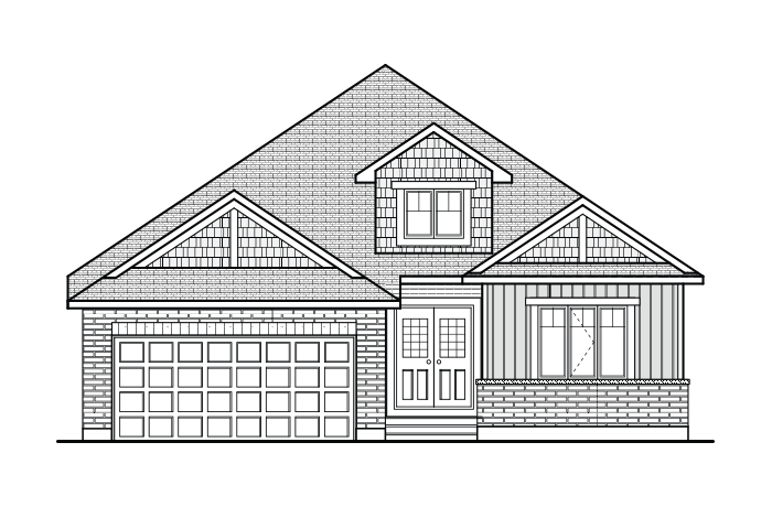 Burgess - A1 Canadiana Elevation - 1,900 sqft, 2 Bedroom, 2 Bathroom - Cardel Homes Ottawa