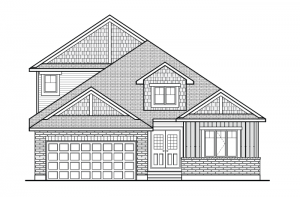 Burgess - A1 Canadiana with Loft Elevation - 1,900 sqft, 2 Bedroom, 2 Bathroom - Cardel Homes Ottawa
