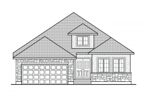 Burgess - A2 Chateau Elevation - 1,900 sqft, 2 Bedroom, 2 Bathroom - Cardel Homes Ottawa