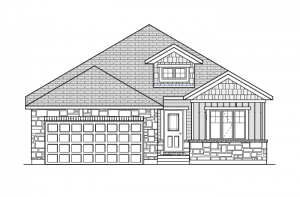 Larmona - A1 Canadiana Elevation - 1,566 sqft, 2 Bedroom, 2 Bathroom - Cardel Homes Ottawa