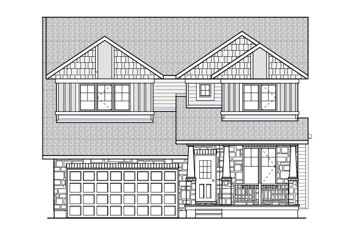 Rydal - A1 Canadiana Elevation - 1,972 sqft, 3 Bedroom, 2.5 Bathroom - Cardel Homes Ottawa