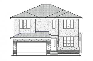 Rydal - A2 Modern Urban Elevation - 1,972 sqft, 3 Bedroom, 2.5 Bathroom - Cardel Homes Ottawa