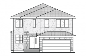 Rideau - A2 Modern Prairie Elevation - 2,200 sqft, 4 Bedroom, 2.5 Bathroom - Cardel Homes Ottawa