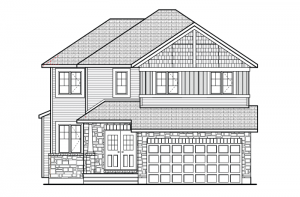 Rideau - A1 Canadiana Elevation - 2,200 sqft, 4 Bedroom, 2.5 Bathroom - Cardel Homes Ottawa