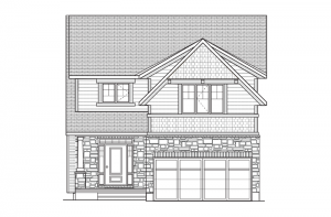 Davenport - R2 Canadiana Elevation - 2,220 sqft, 4 Bedroom, 2.5 Bathroom - Cardel Homes Ottawa