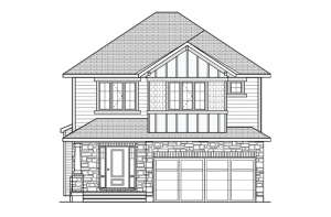 Davenport - R8 Canadiana Elevation - 2,220 sqft, 4 Bedroom, 2.5 Bathroom - Cardel Homes Ottawa