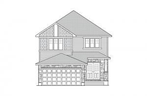 Chesapeake - Canadiana A1 Elevation - 2,110 sqft, 3 - 4 Bedroom, 2.5 Bathroom - Cardel Homes Ottawa