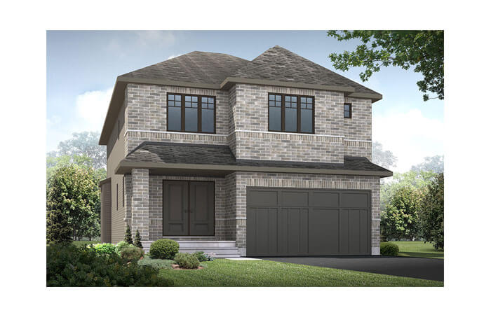 Davenport - R6 European Manor Elevation - 2,220 sqft, 4 Bedroom, 2.5 Bathroom - Cardel Homes Ottawa