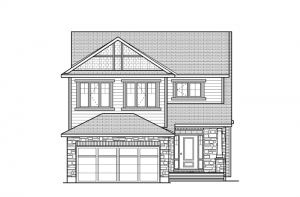 Eastleigh - R8 Canadiana Elevation - 2,148 sqft, 3 Bedroom, 2.5 Bathroom - Cardel Homes Ottawa