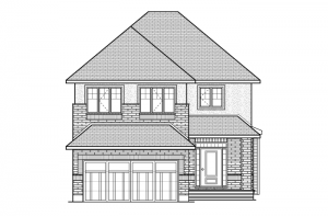 Eastleigh - R6 European Manor Elevation - 2,148 sqft, 3 Bedroom, 2.5 Bathroom - Cardel Homes Ottawa