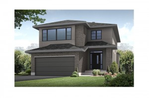 Eastleigh - R4 Modern Prairie (Hardie Panel) Elevation - 2,148 sqft, 3 Bedroom, 2.5 Bathroom - Cardel Homes Ottawa
